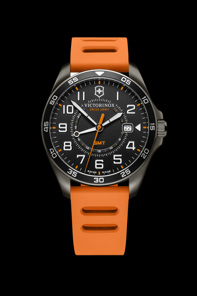 Bilde av VICTORINOX FIELD FORCE GMT ORANGE RUBBER STRAP